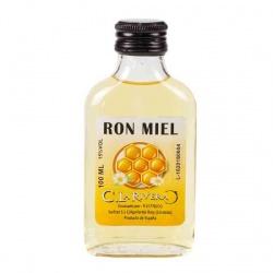 Licor de Ron Miel 100 ML, Petaca Cristal