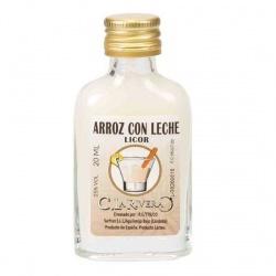 Licor de Arroz con Leche 20 ML, Petaca Cristal
