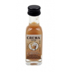 Licor de Crema 20 ML, Botella Marasca Cristal