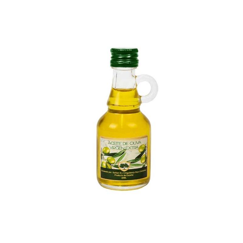 Aceite de Oliva Virgen Extra 40 ML, Botella Cristal