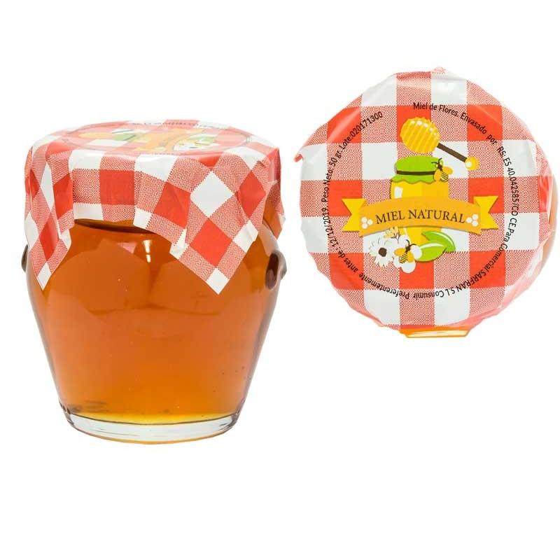 Miel de flores en Tarro de Cristal 100 gr. con adhesivo