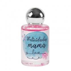 """Frasco de perfume de Rosas """"Felicidades Mamá"""""""