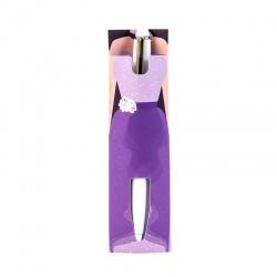 Bolígrafo con vestido de fiesta de mujer
