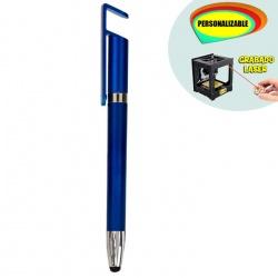 Bolígrafo azul Porta-Móvil con puntero táctil