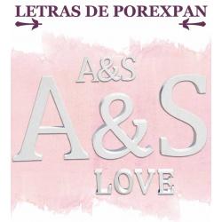 Pack de letras de Porexpan, grosor 20 cm