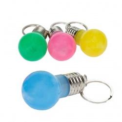 Llavero Bombilla con luz en colores surtidos