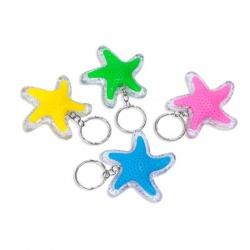 Llavero Estrella con luz en colores surtidos