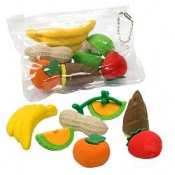 Surtido 7 gomas de borrar de frutas para niños