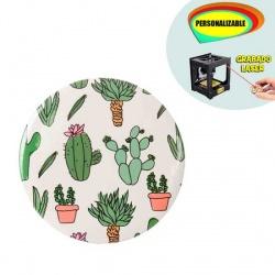 Espejos con plantas de cactus, grabable a láser