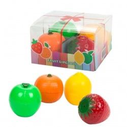 Brillos de labios de frutas, caja de 4 unidades