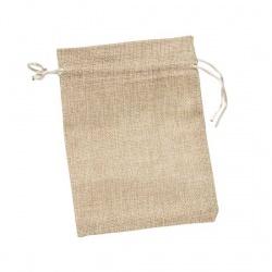 Bolsita de saco color beige para regalos