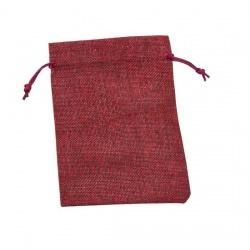 Bolsita de saco color burdeos para regalos