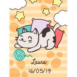 Pegatina para regalos de niños con gatito