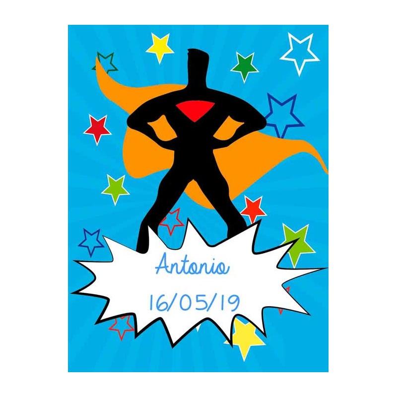 Pegatina para regalos de niños con superhéroe