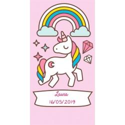 Pegatina para regalo de niñas con unicornio