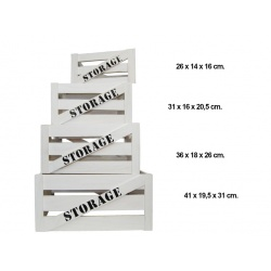 """Conjunto de 4 cajas de madera """"Storage"""""""