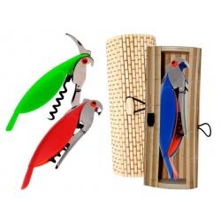 Destapador abrebotellas loro y+ caja de madera