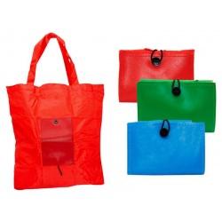 Bolsa de la compra plegable en 3 colores surtidos