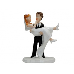 Figura de resina pareja de novios para la tarta de boda