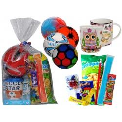 Taza de cerámica con cuchara con golosinas + balón balonmano