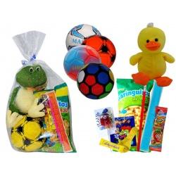 Balón balonmano con golosinas + peluche M.