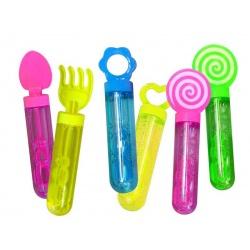 Pompero juguete burbujas 14 cm. (24 Unds.)