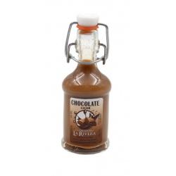 Botellita de licor Chocolate 40 ml, modelo Siphón en cristal