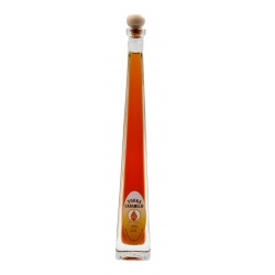 Botellita de licor Vodka Caramelo 100 ml, modelo Edu en cristal