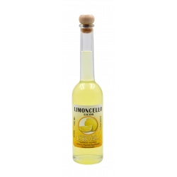 Botellita de licor Limoncello 100 ml, modelo Sorgente