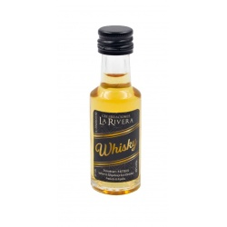 Mini-botellita de Whisky, 20 ml, modelo Dórica en cristal