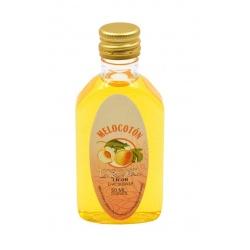 Botelllita de Licor de Melocotón, 50 ml, modelo Petaca de plástico