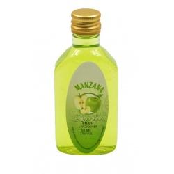 Botelllita de Licor de Manzana Verde, 50 ml, modelo Petaca de plástico
