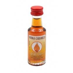 Mini-botellita de Licor de Vodka Caramelo, 20 ml, modelo Dórica en cristal