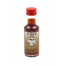 Mini-botellita de Licor de Café, 20 ml, modelo Dórica en cristal