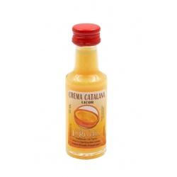 Mini-botellita de Licor de Crema Catalana, 20 ml, modelo Dórica en cristal