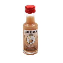 Mini-botellita de Licor de Crema, 20 ml, modelo Dórica en cristal