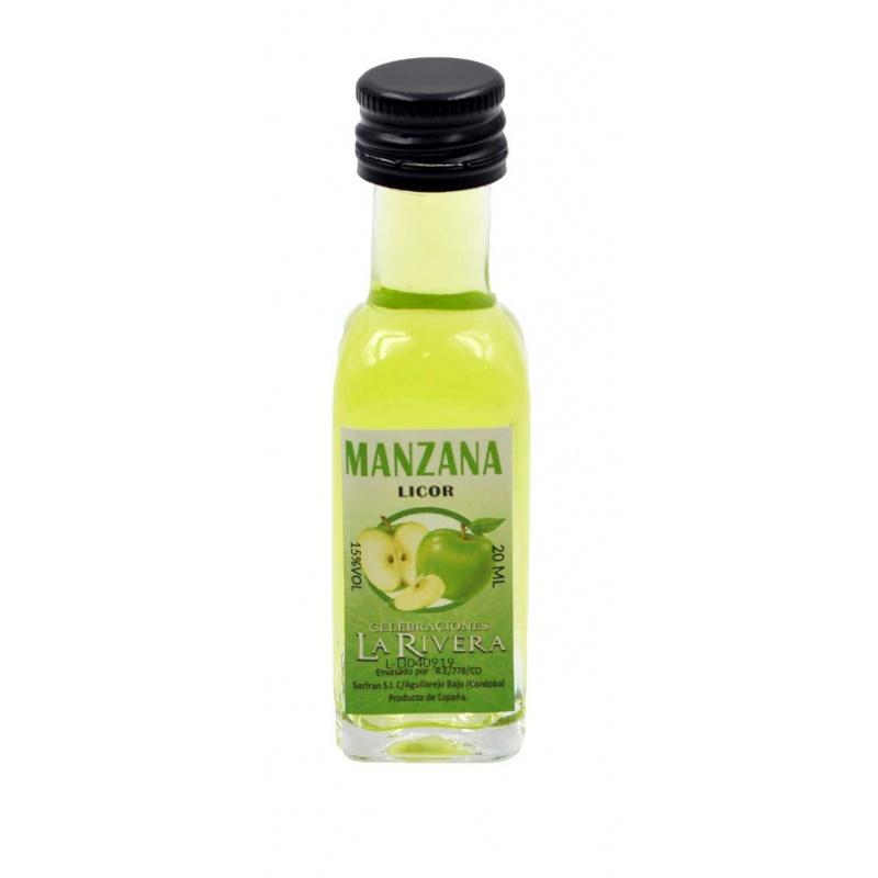 Mini-botellita de Manzana, 20 ml, modelo Marasca en cristal