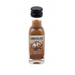 Mini-botellita de Chocolate, 20 ml, modelo Marasca en cristal