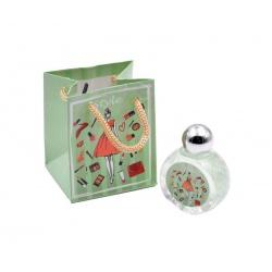Pack con perfume de azahar, en bote de cristal, y bolsa decorada