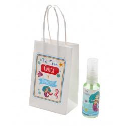 Pack con perfume de azahar, en bote de plástico 30 ml y bolsa decorada