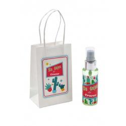 Pack con perfume de azahar, en bote de plástico 50 ml y bolsa decorada