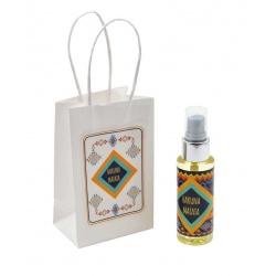 Pack con perfume de jazmín, en bote de plástico 50 ml y bolsa decorada