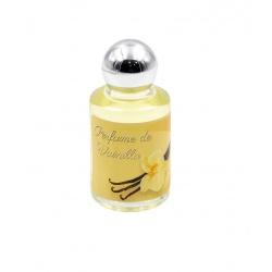Bote de perfume de vainilla en cristal, 10 ml, con pegatina decorada
