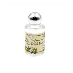 Bote de perfume de jazmín en cristal, 10 ml, con pegatina decorada
