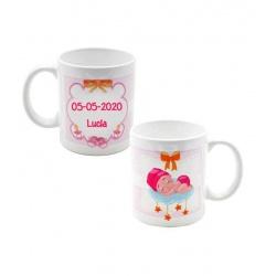 Taza de bebé rosa para personalizar