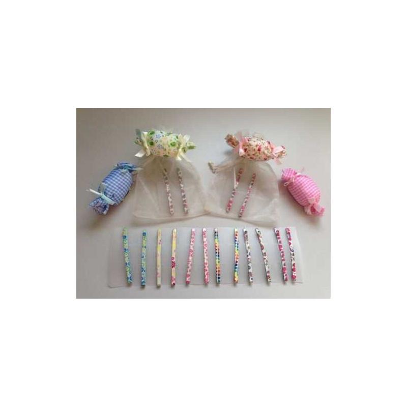 bolsa de organza a elegir con broche y dos pasadores