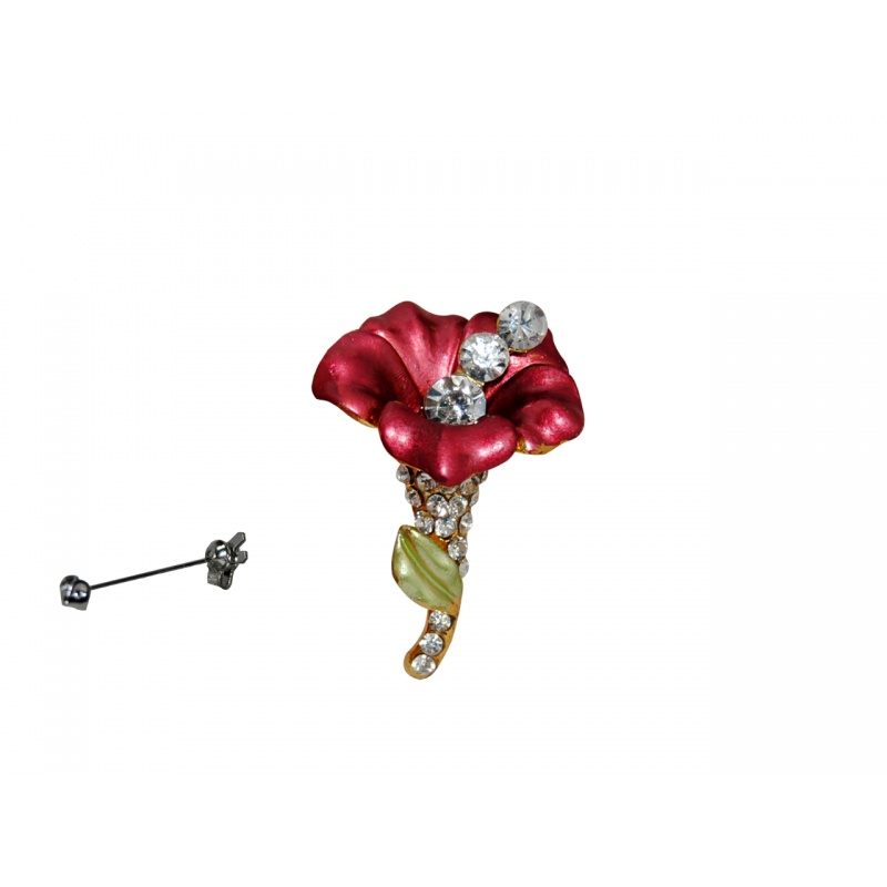 BROCHE DECOR ROSA 3 PERLAS
