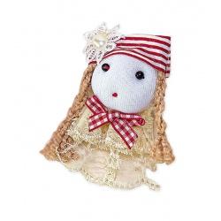 Broche muñeca gorra rayas