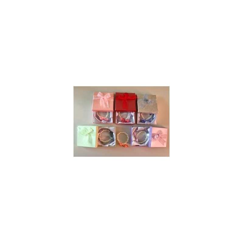 Pulsera vichy surtida + caja