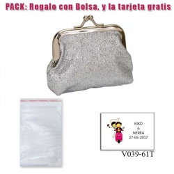 Monedero color plata brillante con hebilla, ideal para tus invitadas de boda